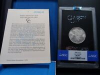 1885-CC MINT STATE 64 PLUS GSA HOARD MORGAN SILVER DOLLAR NGC CERTIFIED WITH BOX/COA
