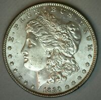 1889 MORGAN ALMOST UNCIRCULATED SILVER ONE DOLLAR US TYPE COIN AU / BU $1