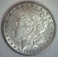 1899 S MORGAN SILVER DOLLAR COIN AU SAN FRANCISCO MINTED $1 US COIN ALMOST UNC