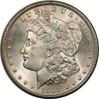 1903 MORGAN DOLLAR FLASHY CHOICE BRILLIANT UNCIRCULATED