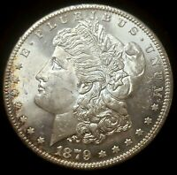 1879-S MORGAN DOLLAR MS HIGH GRADE  LUSTER 90 SILVER $1 US COIN SOME TONING