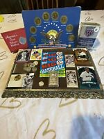 JUNK DRAWER LOT.  SILVER COINS  TOKENS COLECTOR SETS AND MOR
