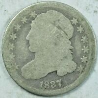 1837 CAPPED BUST DIME - ESTATE FIND