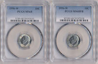 2 COIN LOT   1996 W ROOSEVELT DIME 10C PCGS MS68 & 1996 W RO