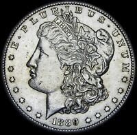 1889-S MORGAN DOLLAR SILVER   ---- GEM BU  ---- L409