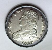 1829 CAPPED BUST SILVER 50 CENTS CHOICE UNC NICE TONING    THIS NICE