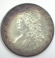 1827 CAPPED BUST SILVER 50 CENTS CHOICE UNCIRCULATED NICE TONING