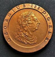 UNITED KINGDOM/ CARTWHEEL TWOPENCE 1797/ KING GEORGE III/ KM.619/ COPPER COIN