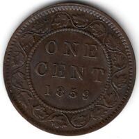 1859 CANADA ONE CENT