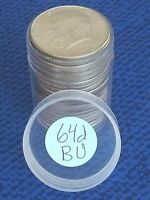 1964 D KENNEDY HALF DOLLAR UNCIRCULATED ROLL   BU ORGINAL RO