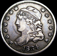 1834 CAPPED BUST HALF DIME SILVER ----  TYPE COIN ----  M266