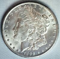 1899 O MORGAN SILVER DOLLAR $1 US COIN BRILLIANT UNCIRCULATED NEW ORLEANS MINTED