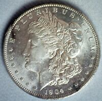 1904 O MORGAN SILVER DOLLAR $1 US COIN BRILLIANT UNCIRCULATED NEW ORLEANS MINTED