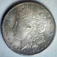 1904 O MORGAN SILVER DOLLAR COIN UNCIRCULATED $1 US NEW ORLEANS MINTED TONED
