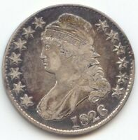1826 CAPPED BUST HALF DOLLAR VF DETAILS TRUE AUCTION NO RESE