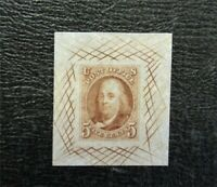 NYSTAMPS US STAMP 1PB USED 1847 PAID$900   A30X1318