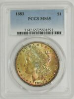1883 MORGAN DOLLAR $ MINT STATE 65 COLOR PCGS 944016-8