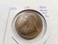 F81 GREAT BRITAIN 1897 PENNY RED BROWN BU