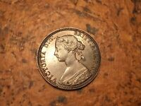 1860 HALF PENNY COPPER VICTORIA GREAT BRITAIN ENGLISH COIN B