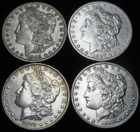 1878 1890-S 1896-O 1897-O MORGAN DOLLAR SILVER US COIN ---- LOT OF 4 ---- M768