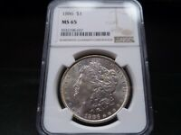 1886 MINT STATE 65 MORGAN SILVER DOLLAR NGC CERTIFIED GEM