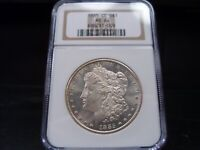 1885-CC MINT STATE 64 MORGAN SILVER DOLLAR NGC CERTIFIED - BRIGHT WHITE