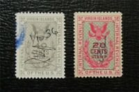 NYSTAMPS US DANISH WEST INDIES STAMP  R36 37 USED $25   M28X
