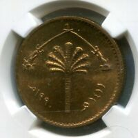 IRAQ UNISSUED 10 DINARS 1990 AH1411 COIN KM 172 CHOICE UNCIRCULATED NGC MS 63 RB