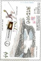 U.S. FDC 4920  HAND COLORED NAKANO CACHET   DISTANT VIEW OF