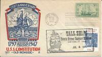 951 US FRIGATE CONSTITUTION COMBO FDC   CACHET CRAFT/L W STA