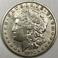 1880 S MORGAN SILVER DOLLAR $1 ABOUT UNCIRCULATED AU - COLLECTOR'S GEM
