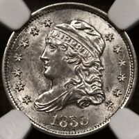 1835 LM 3 CAPPED BUST HALF DIME NGC MS61 COOL LATE DIE STATEDAVIDKAHNCOINS