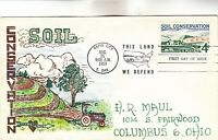 1133 SOIL CONSERVATION MAUL HAND PAINTED FIRST DAY COVER