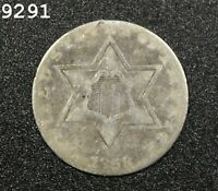 1858 THREE CENT PIECE  TRIME   FREE S/H AFTER 1ST ITEM