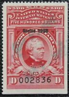 NYSTAMPS US REVENUE STAMP  R719 USED $125   L16X862