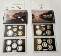 2 US SILVER PROOF SETS. 2019   2020