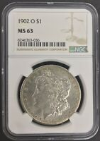 1902 O MORGAN SILVER $1 COIN - NGC MINT STATE 63
