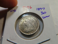 T146 GREAT BRITAIN 1897 3 PENCE UNC