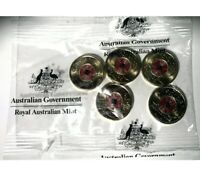 2018 $2 TWO DOLLAR REMEMBRANCE DAY ARMISTICE RAM BAG OF 5 CO