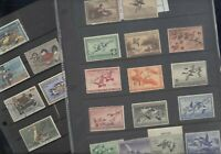 US EXCELLENT ASSORTMENT OF DUCK STAMPS IN STOCK PAGES