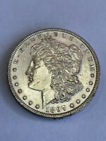 1897 P MORGAN SILVER DOLLAR $1 ABOUT UNCIRCULATED AU A98