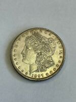 1897 P MORGAN SILVER DOLLAR $1 ABOUT UNCIRCULATED AU A111