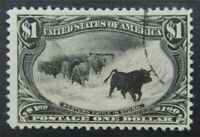 NYSTAMPS US STAMP  292 USED $650  S10X300