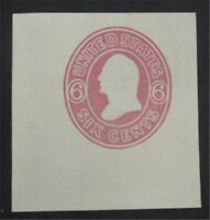 NYSTAMPS US CUT SQUARE STAMP  U38 MINT H REPRINT     S10X126