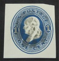 NYSTAMPS US CUT SQUARE STAMP  U74 USED     S10X1272