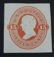 NYSTAMPS US CUT SQUARE STAMP  U96 MINT    S10X1274