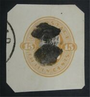 NYSTAMPS US CUT SQUARE STAMP  U198 USED     S10X1280