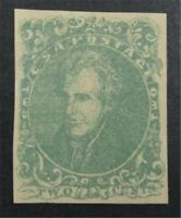 NYSTAMPS US CSA CONFEDERATE STAMP  3 MINT OG H $900   S10X12