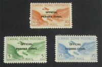 NYSTAMPS US CANAL ZONE STAMP  CO1 CO3 MINT OG H    S10X1360