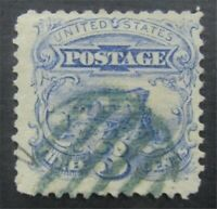 NYSTAMPS US STAMP  114 USED $420 GREEN CANCEL    S10X632